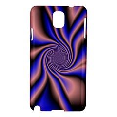Purple Blue Swirl Samsung Galaxy Note 3 N9005 Hardshell Case by LalyLauraFLM
