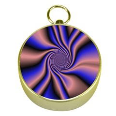 Purple Blue Swirl Gold Compass by LalyLauraFLM
