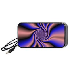 Purple Blue Swirl Portable Speaker (black) by LalyLauraFLM