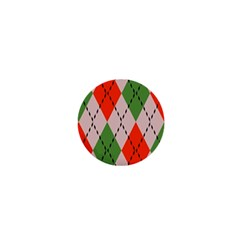 Argyle Pattern Abstract Design 1  Mini Button by LalyLauraFLM