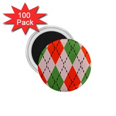 Argyle Pattern Abstract Design 1 75  Magnet (100 Pack)  by LalyLauraFLM