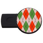 Argyle pattern abstract design USB Flash Drive Round (2 GB) Front