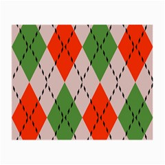 Argyle Pattern Abstract Design Glasses Cloth (small) by LalyLauraFLM