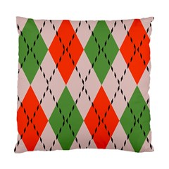 Argyle Pattern Abstract Design Standard Cushion Case (two Sides) by LalyLauraFLM
