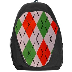 Argyle Pattern Abstract Design Backpack Bag by LalyLauraFLM