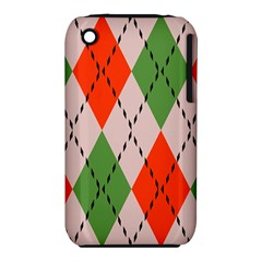 Argyle Pattern Abstract Design Apple Iphone 3g/3gs Hardshell Case (pc+silicone) by LalyLauraFLM