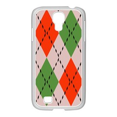 Argyle Pattern Abstract Design Samsung Galaxy S4 I9500/ I9505 Case (white) by LalyLauraFLM