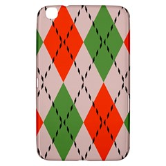 Argyle Pattern Abstract Design Samsung Galaxy Tab 3 (8 ) T3100 Hardshell Case  by LalyLauraFLM