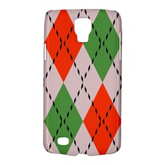 Argyle Pattern Abstract Design Samsung Galaxy S4 Active (i9295) Hardshell Case by LalyLauraFLM