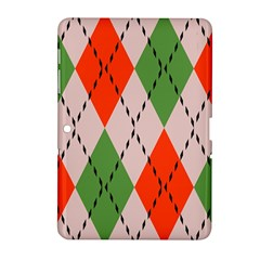 Argyle Pattern Abstract Design Samsung Galaxy Tab 2 (10 1 ) P5100 Hardshell Case  by LalyLauraFLM