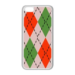 Argyle Pattern Abstract Design Apple Iphone 5c Seamless Case (white) by LalyLauraFLM