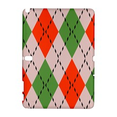 Argyle pattern abstract design Samsung Galaxy Note 10.1 (P600) Hardshell Case by LalyLauraFLM