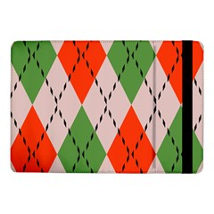 Argyle Pattern Abstract Design Samsung Galaxy Tab Pro 10 1  Flip Case by LalyLauraFLM