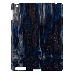 Blue Black Texture Apple Ipad 3/4 Hardshell Case by LalyLauraFLM