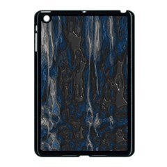 Blue Black Texture Apple Ipad Mini Case (black) by LalyLauraFLM