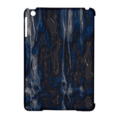 Blue Black Texture Apple Ipad Mini Hardshell Case (compatible With Smart Cover) by LalyLauraFLM