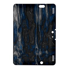 Blue Black Texture Kindle Fire Hdx 8 9  Hardshell Case by LalyLauraFLM