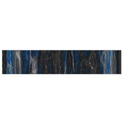 Blue Black Texture Flano Scarf (small) by LalyLauraFLM