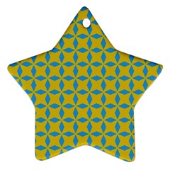 Blue Diamonds Pattern Ornament (star) by LalyLauraFLM