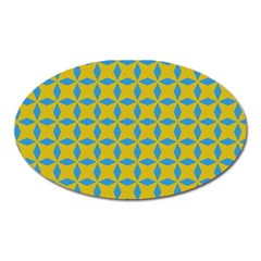 Blue Diamonds Pattern Magnet (oval) by LalyLauraFLM