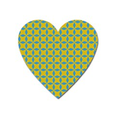Blue Diamonds Pattern Magnet (heart) by LalyLauraFLM
