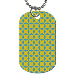 Blue Diamonds Pattern Dog Tag (two Sides) by LalyLauraFLM