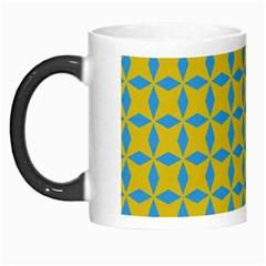Blue Diamonds Pattern Morph Mug by LalyLauraFLM