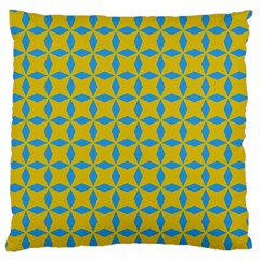 Blue Diamonds Pattern Large Cushion Case (two Sides) by LalyLauraFLM