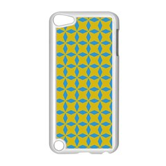 Blue Diamonds Pattern Apple Ipod Touch 5 Case (white) by LalyLauraFLM