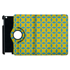 Blue Diamonds Pattern Apple Ipad 3/4 Flip 360 Case by LalyLauraFLM