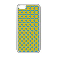 Blue Diamonds Pattern Apple Iphone 5c Seamless Case (white) by LalyLauraFLM