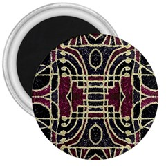 Tribal Style Ornate Grunge Pattern  3  Button Magnet by dflcprints