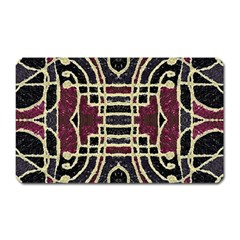 Tribal Style Ornate Grunge Pattern  Magnet (rectangular) by dflcprints
