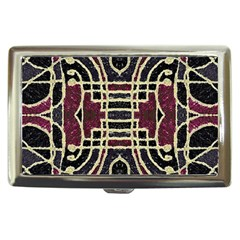 Tribal Style Ornate Grunge Pattern  Cigarette Money Case by dflcprints
