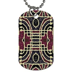Tribal Style Ornate Grunge Pattern  Dog Tag (two Sided)  by dflcprints