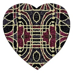 Tribal Style Ornate Grunge Pattern  Jigsaw Puzzle (heart) by dflcprints