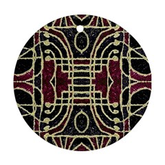 Tribal Style Ornate Grunge Pattern  Round Ornament (two Sides) by dflcprints