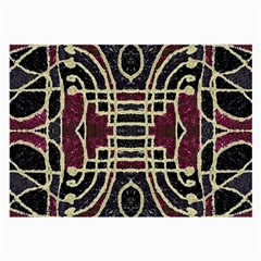 Tribal Style Ornate Grunge Pattern  Glasses Cloth (large, Two Sided) by dflcprints