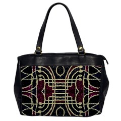 Tribal Style Ornate Grunge Pattern  Oversize Office Handbag (one Side) by dflcprints