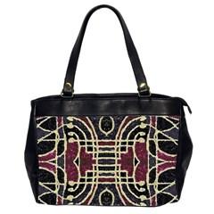 Tribal Style Ornate Grunge Pattern  Oversize Office Handbag (two Sides) by dflcprints