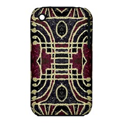 Tribal Style Ornate Grunge Pattern  Apple Iphone 3g/3gs Hardshell Case (pc+silicone) by dflcprints