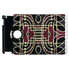 Tribal Style Ornate Grunge Pattern  Apple Ipad 2 Flip 360 Case by dflcprints