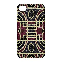 Tribal Style Ornate Grunge Pattern  Apple Iphone 4/4s Hardshell Case With Stand by dflcprints