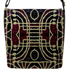 Tribal Style Ornate Grunge Pattern  Flap Closure Messenger Bag (small) by dflcprints