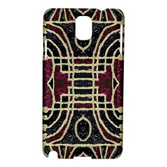 Tribal Style Ornate Grunge Pattern  Samsung Galaxy Note 3 N9005 Hardshell Case by dflcprints