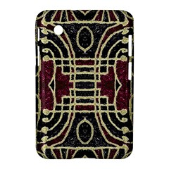Tribal Style Ornate Grunge Pattern  Samsung Galaxy Tab 2 (7 ) P3100 Hardshell Case  by dflcprints