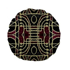 Tribal Style Ornate Grunge Pattern  15  Premium Flano Round Cushion  by dflcprints