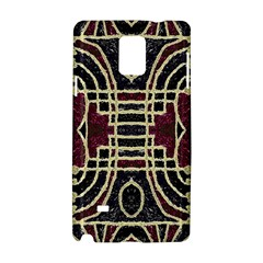 Tribal Style Ornate Grunge Pattern  Samsung Galaxy Note 4 Hardshell Case by dflcprints