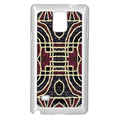 Tribal Style Ornate Grunge Pattern  Samsung Galaxy Note 4 Case (white) by dflcprints