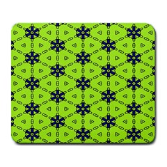 Blue Flowers Pattern Large Mousepad by LalyLauraFLM
